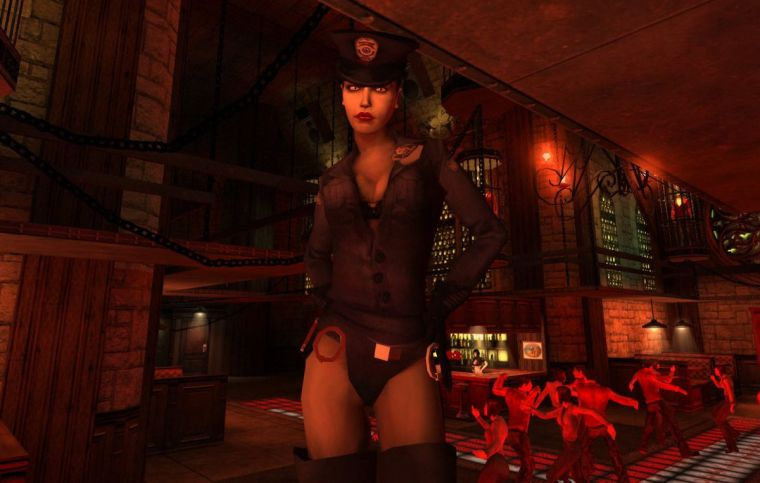 Sexy vampire cop - a fetish I never knew I had. Also look how empty that nightclub is, goddamn.